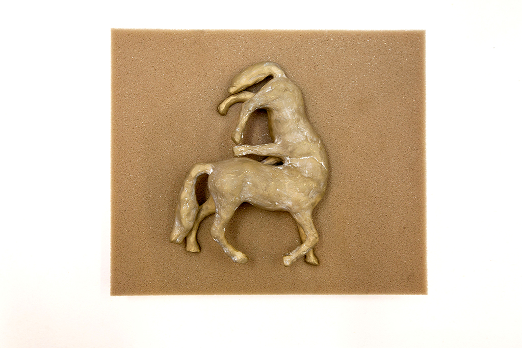 , 2013, Bronze and foam, 24 x 24 x 5 cm, Edition of 3