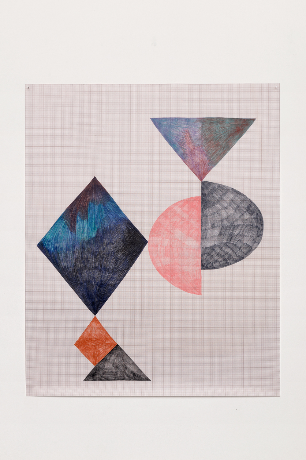 , 2014, Colored pencil on paper, 86 x 70 cm, , unique artwork, Photo: Aurélien Mole
