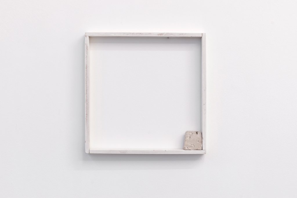 , 2010, Wood, painting and a stone, 30.2 x 30.2 x 3 cm, , unique artwork, photo: Aur�lien Mole, Pinault Collection, Paris, France