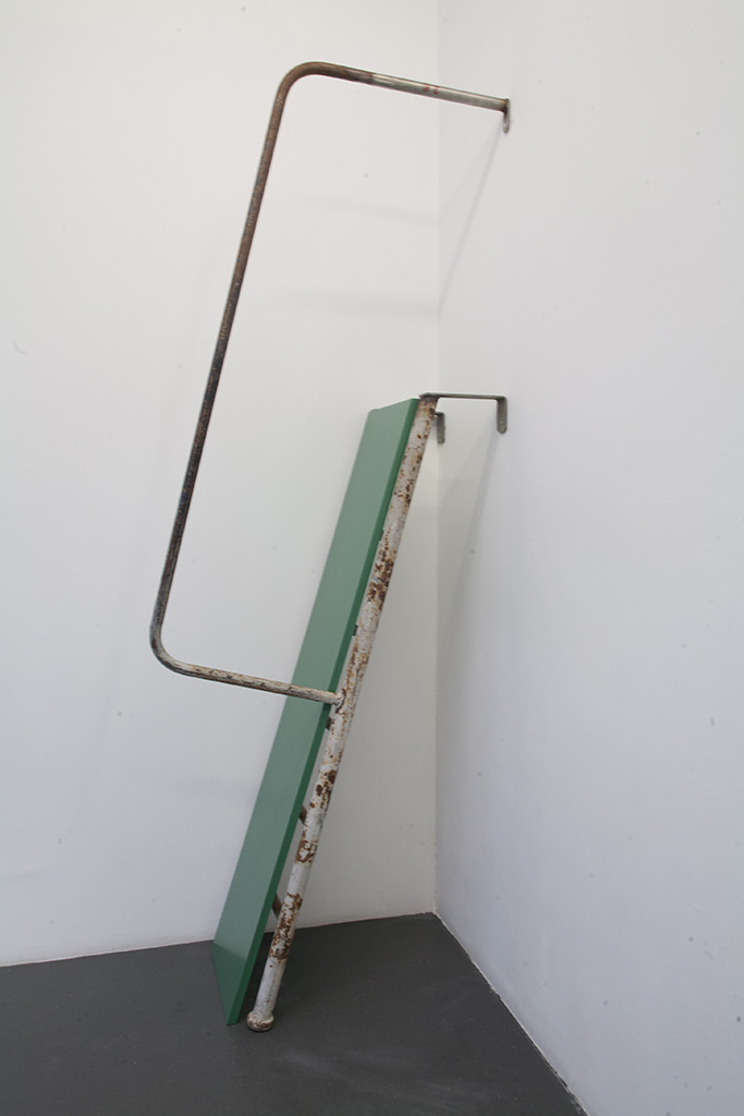 , 2010, Metallic staircaise, mdf and mirror, 210 x 67 x 50 cm, , unique artwork, photo: Magali Joannon