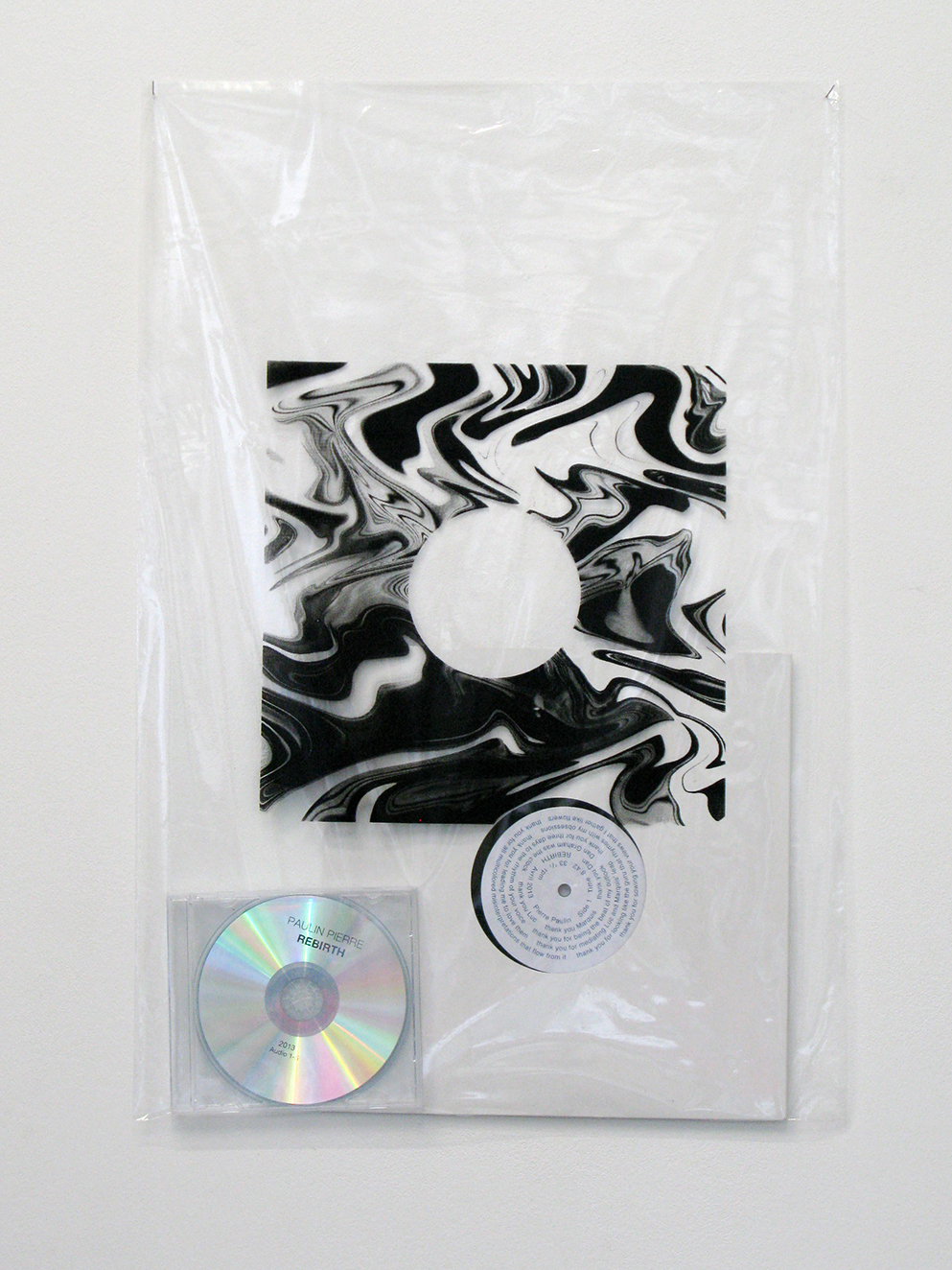 , 2013, Vinyl, cardboard, compact disc and silskscreen plastic, 60 x 40 cm, Edition of 3  + 1 AP