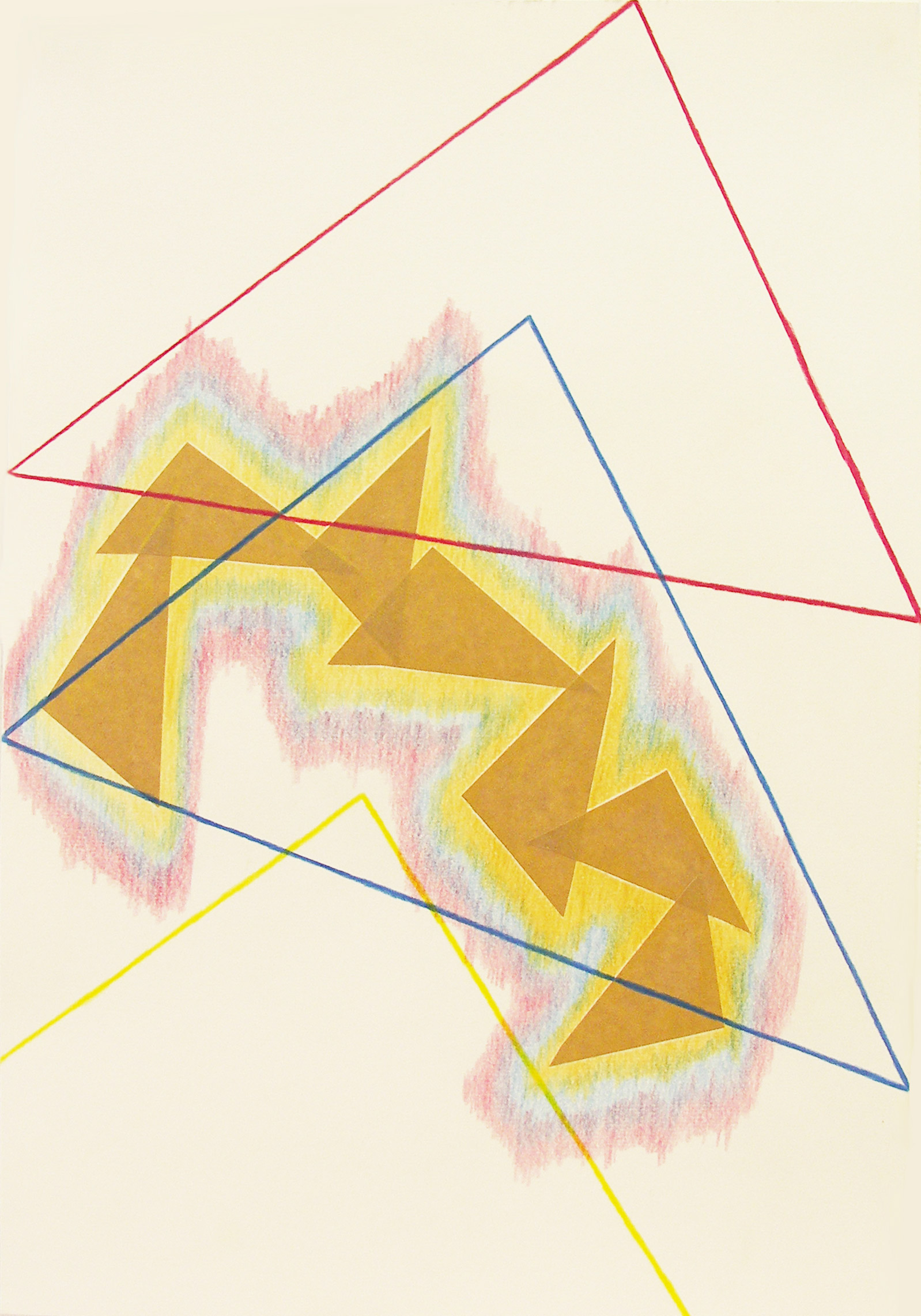 , 2011, Colored pencil and collage on paper, 42 x 29.7 cm, , unique artwork, Private collection, Paris, France