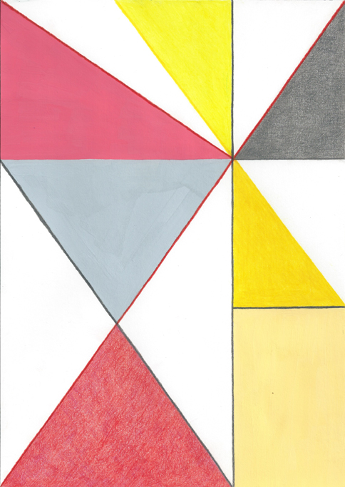 , 2012, Colored pencil and gouache on paper, 29.7 x 21 cm, , unique artwork