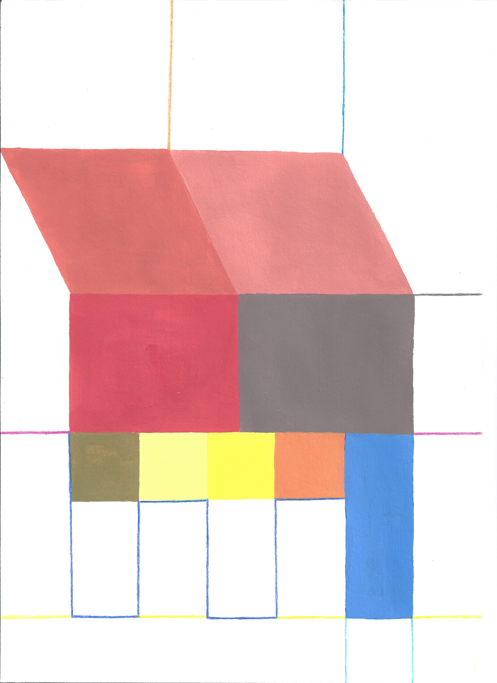 , 2012, Colored pencil, acrylic painting and gouache on paper, 29.7 x 21 cm, , unique artwork