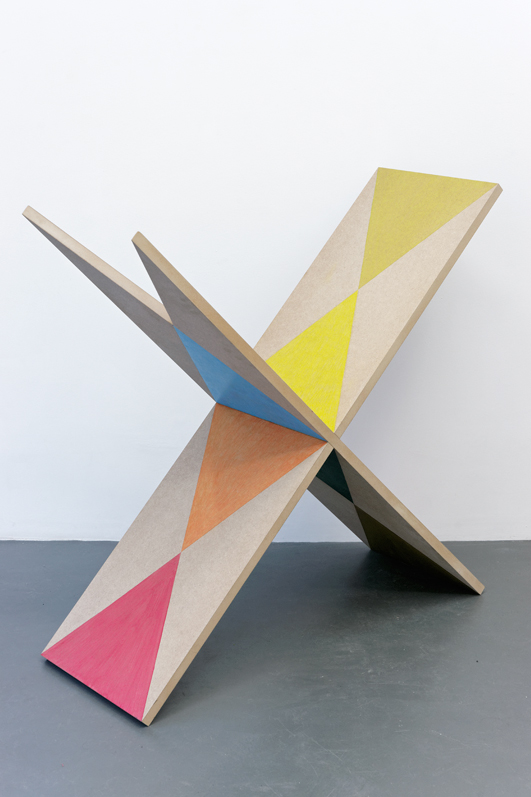 , 2012, Wood, varnish and colored pencil, 94 x 95 x 36 cm, , unique artwork, photo: Aurélien Mole