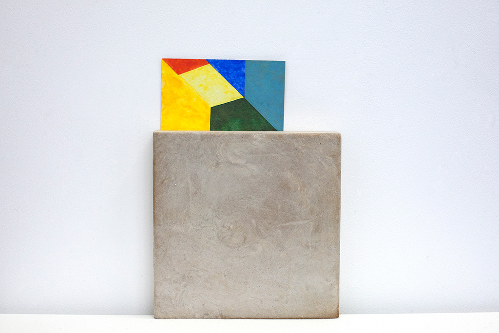 , 2014, Concret, postcard and watercolor, Variable dimension and presentation (postcard: 16.7 x 18.8 cm - concret: 25 x 25 x 5 cm), , unique artwork