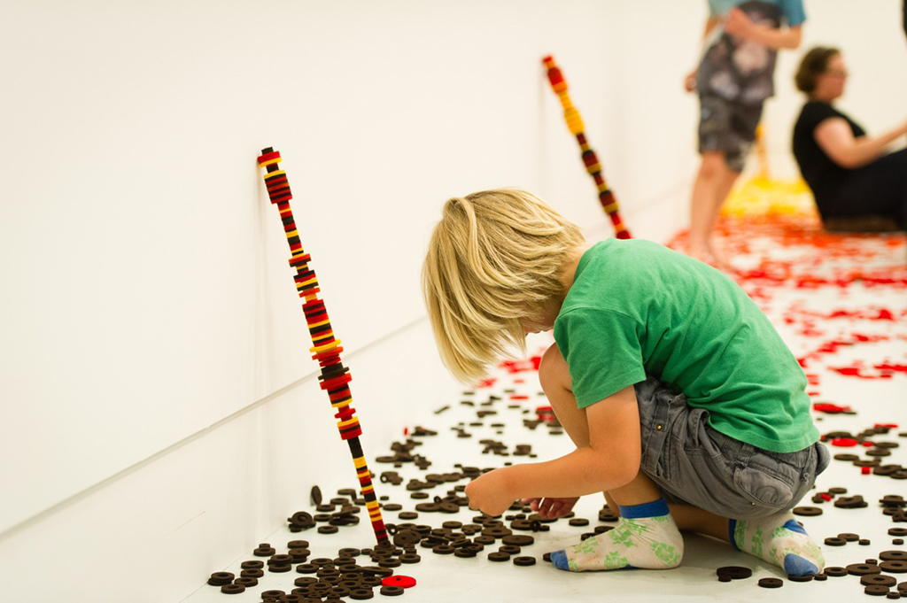 , 2013, Wool felt on metal rod, , unique artwork, photo: Mark Tantrum, Exhibition view at The Dowse Museum, Lower Hutt, New Zealand